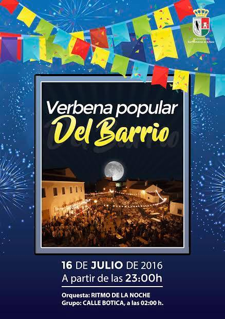 Cartel Verbena Popular del Barrio